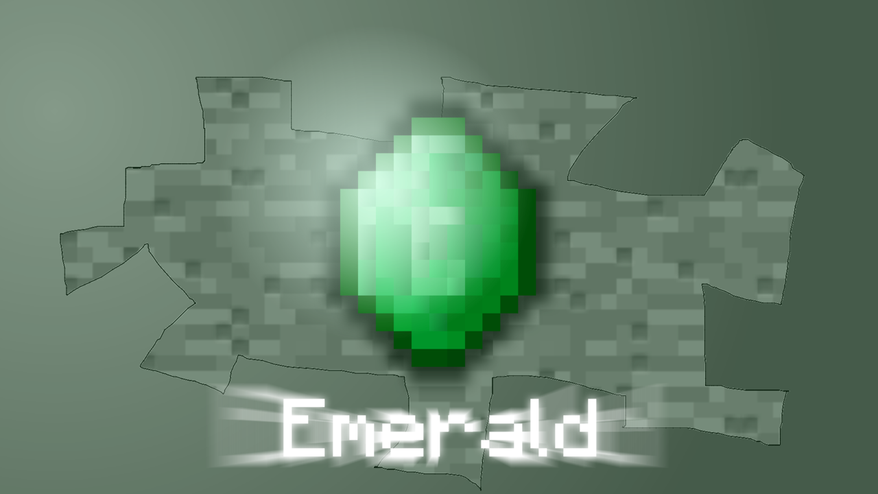 Minecraft Emerald Wallpaper Emerald wallpaper by 1280x720