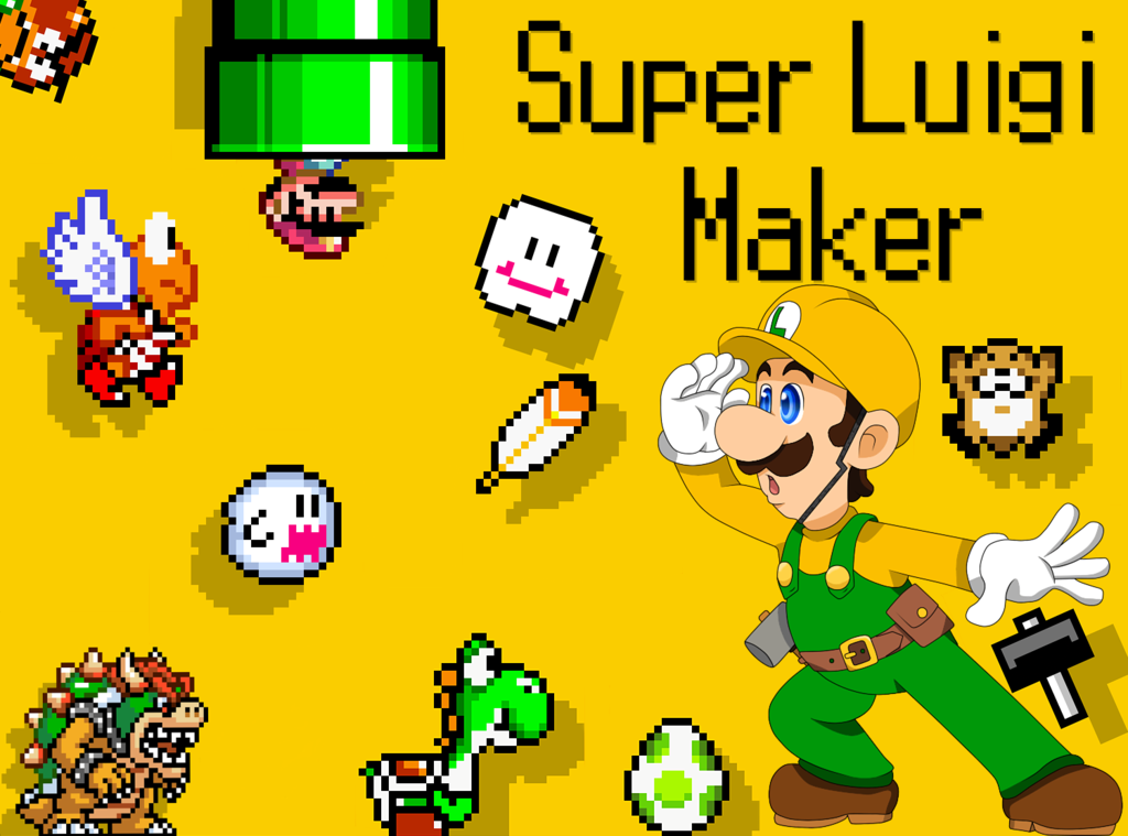 Free download Super Luigi Maker Wallpaper by AsukaRose