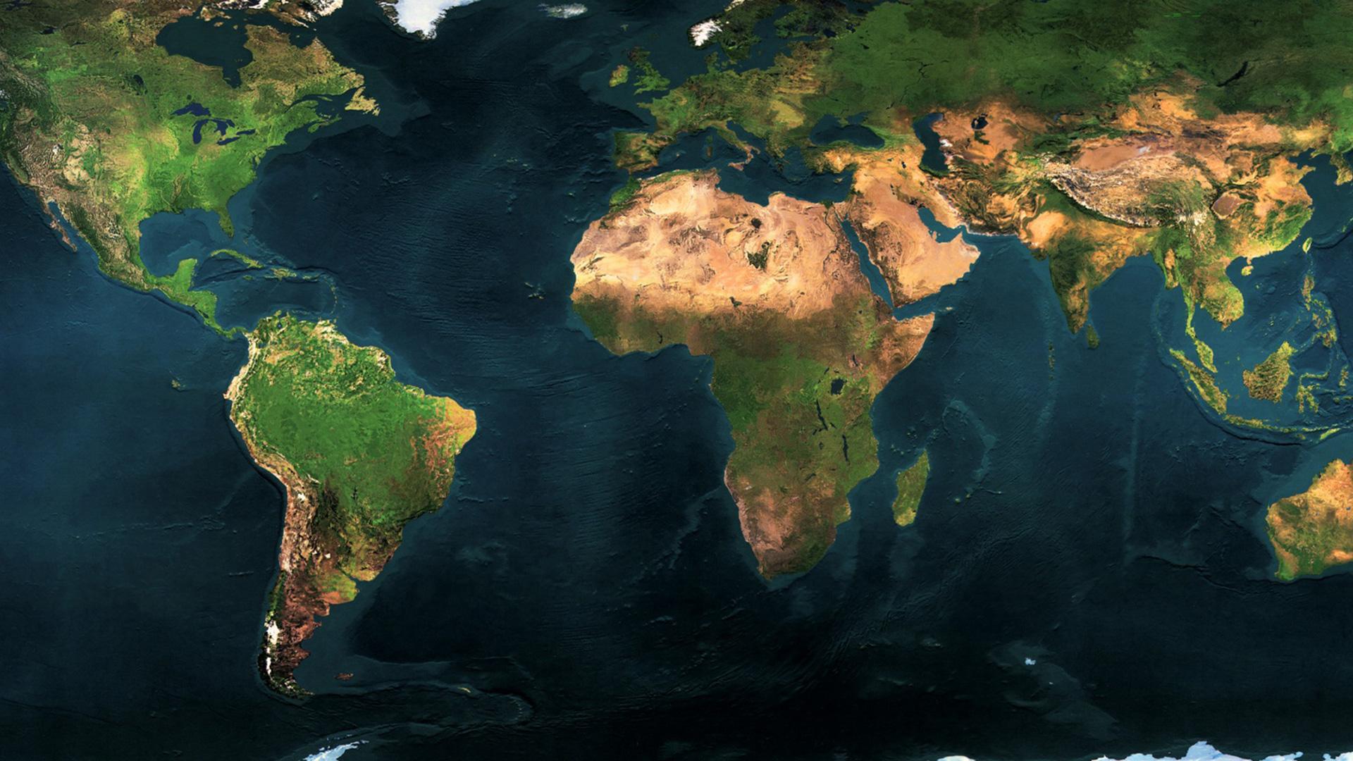 World Map HD Wallpaper 1920x1080