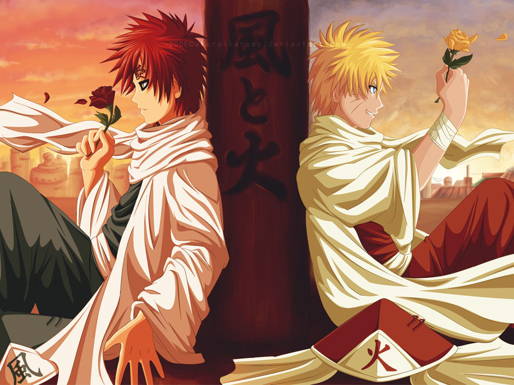 naruto and Gaara   naruto shippuden wallpaper 20578712   fanpop 1024x768