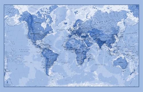 World Map Wallpaper UK
