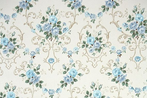 Vintage Wallpaper Beautiful Blue Rose Bouquets Vintage Wallpaper 570x380