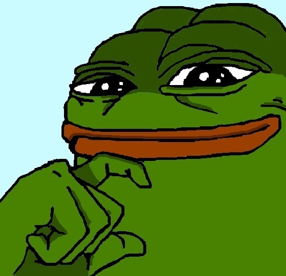 Pepe The Frog Smug Protip press the 563x542