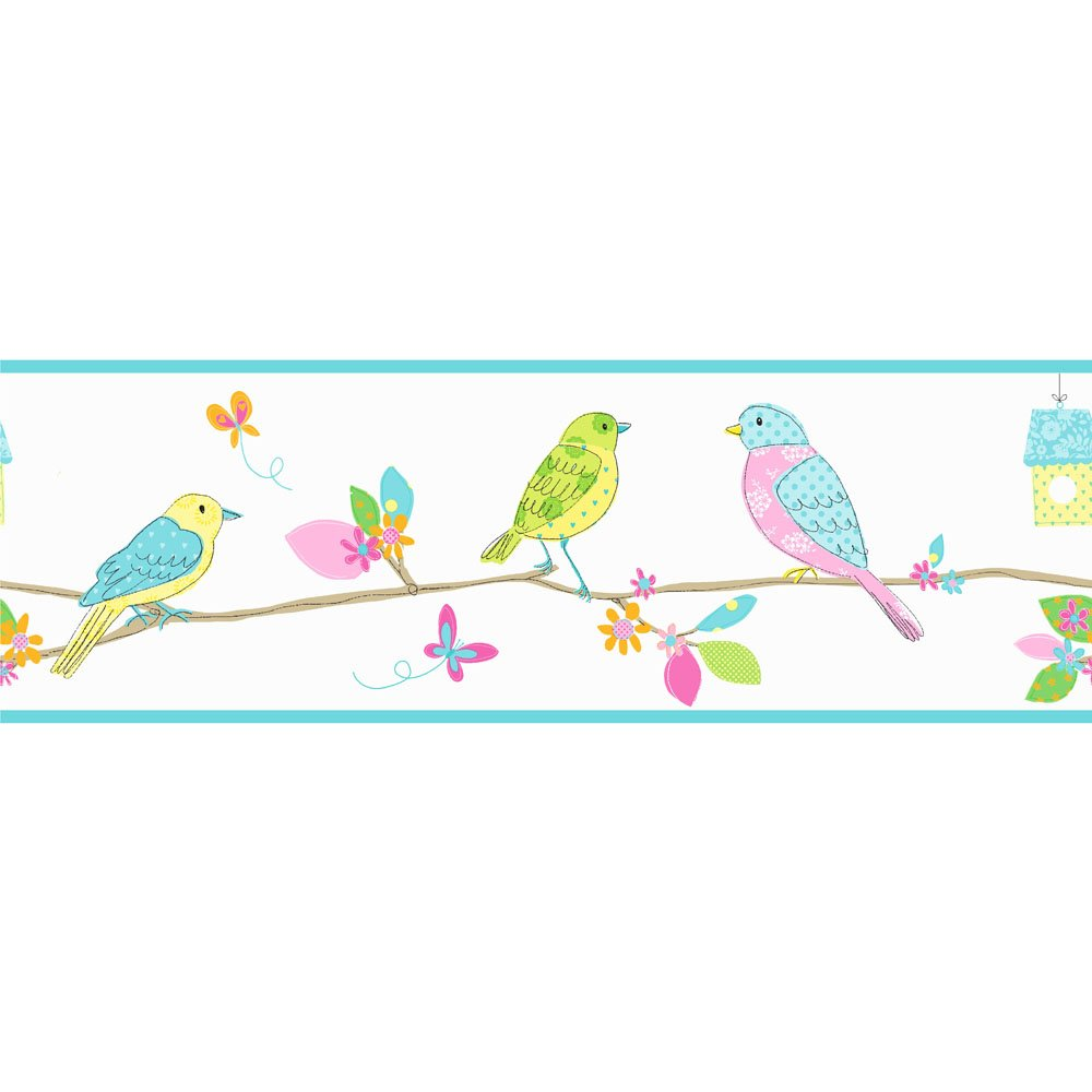 Pretty Birds Wallpaper Border from the Fine Decor collection Hoopla 1000x1000