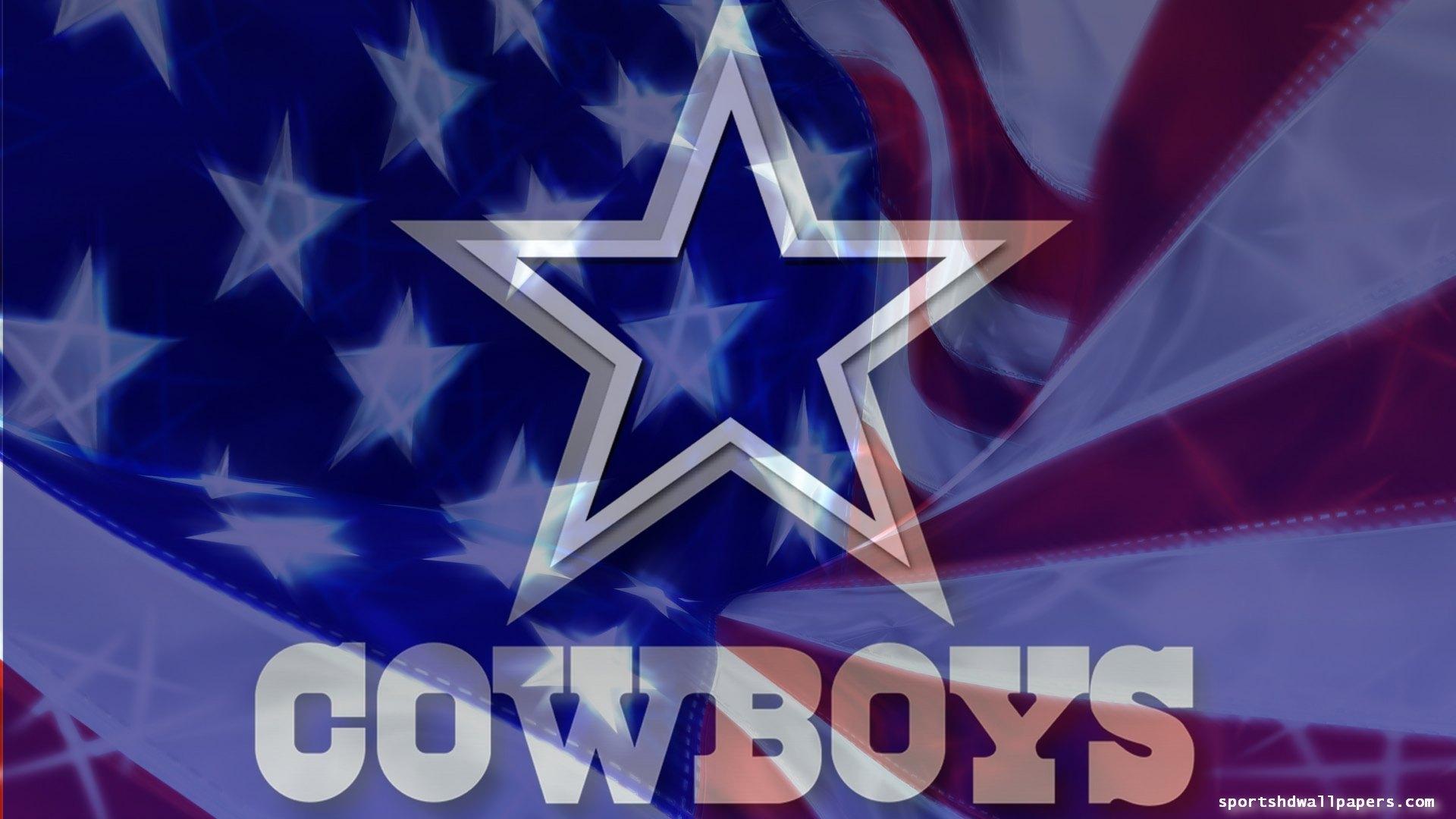 NFL Dallas Cowboys Logo On Windy USA American Flag 1920x1080 HD NFL 1920x1080