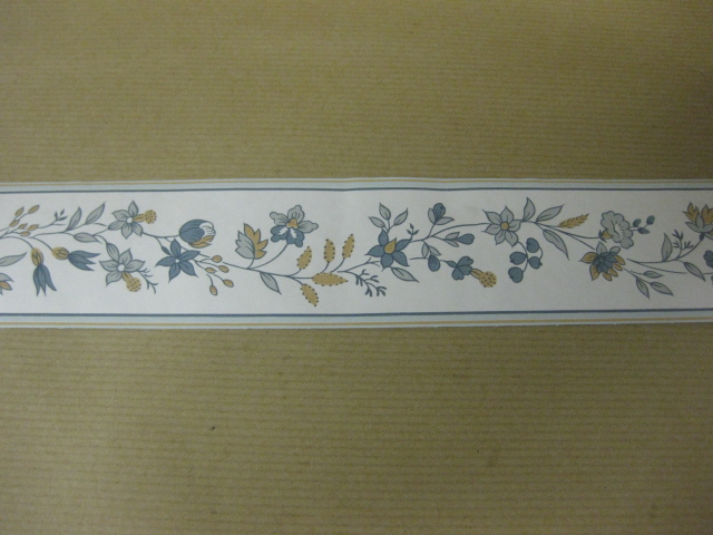 Details about SMALL BLUE BROWN WALLPAPER BORDER LOUNGE HALLWAY STAIRS 640x480