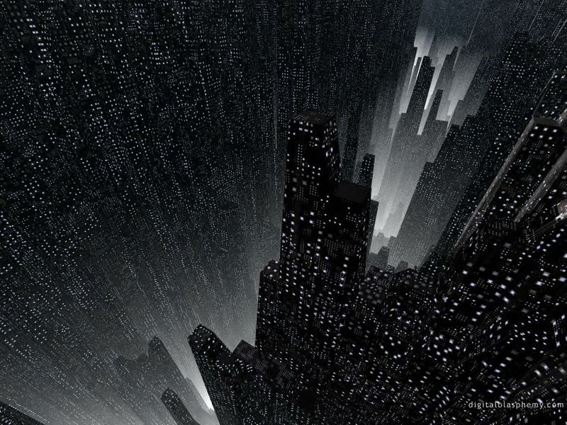 Download Dark City Abstract Wallpaper Full HD Wallpapers 800x600