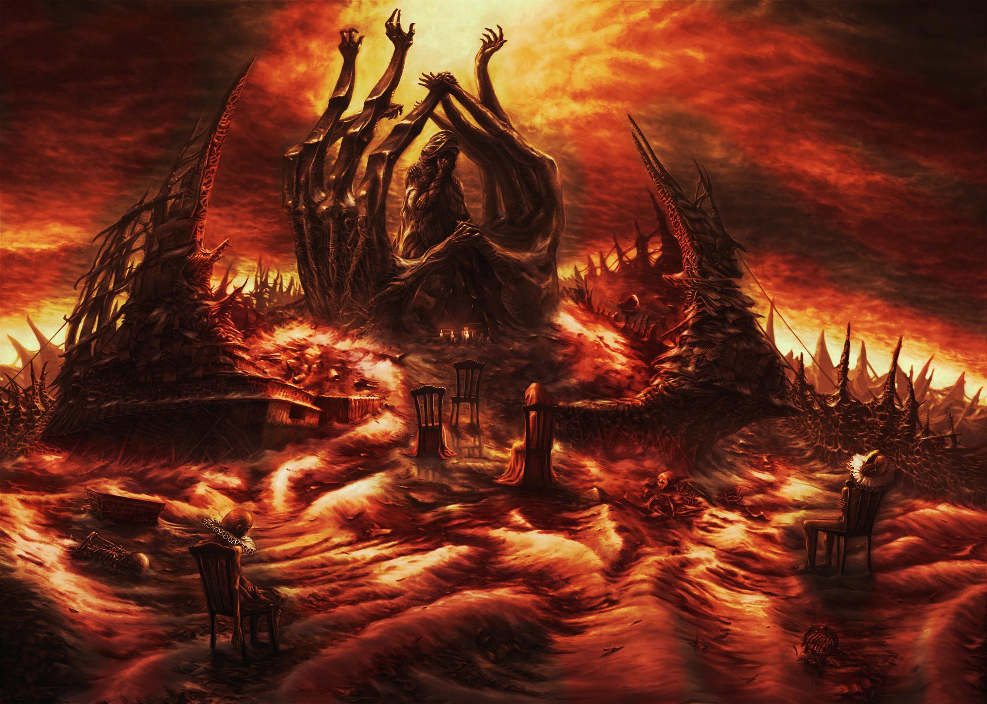 Art hell the monument razverzshiesya heaven people barren land 2000x1427