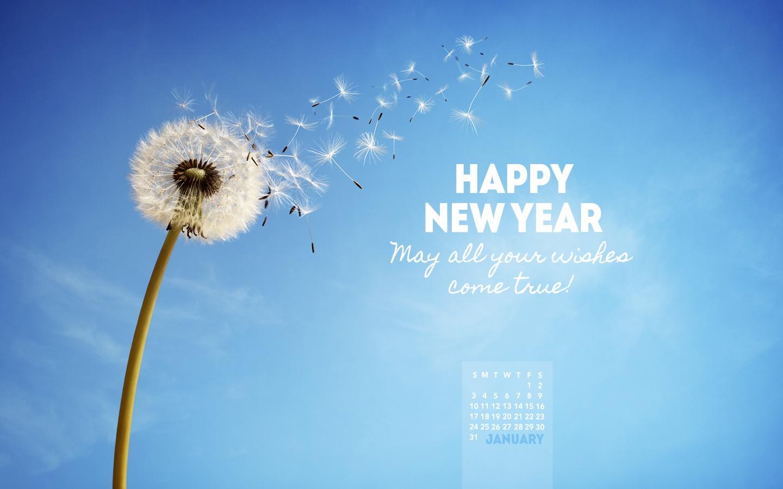 2016   Wishes Come True Desktop Calendar  January Wallpaper 1440x900