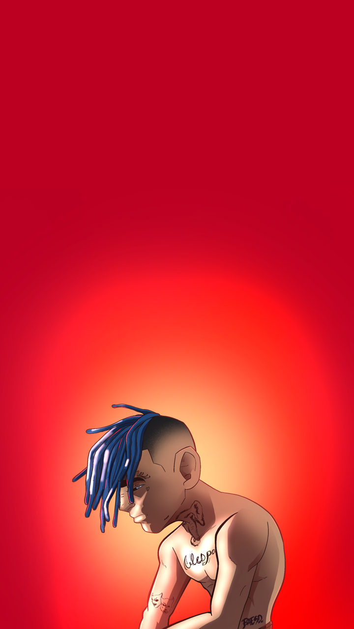 Xxxtentacion wallpaper for your phone X Dope cartoon art 720x1280