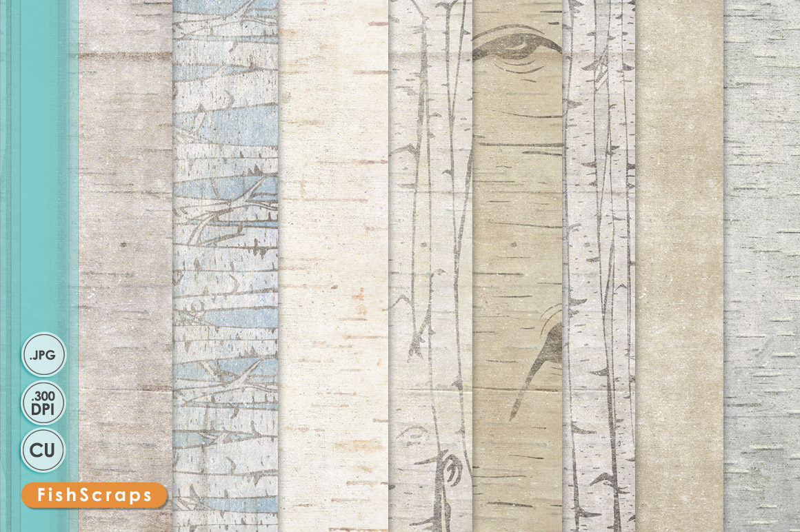 Birch   Wood Grain Backgrounds Patterns on Creative Market 1160x772
