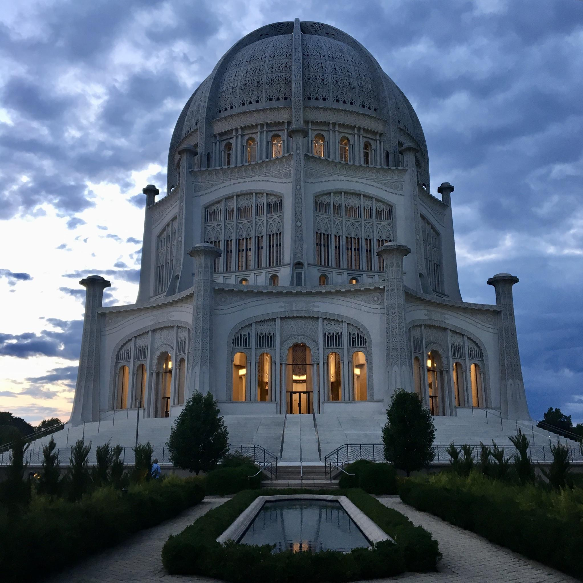 A photo I took of the Bah Temple in Wilmette Illinois If you 2045x2046