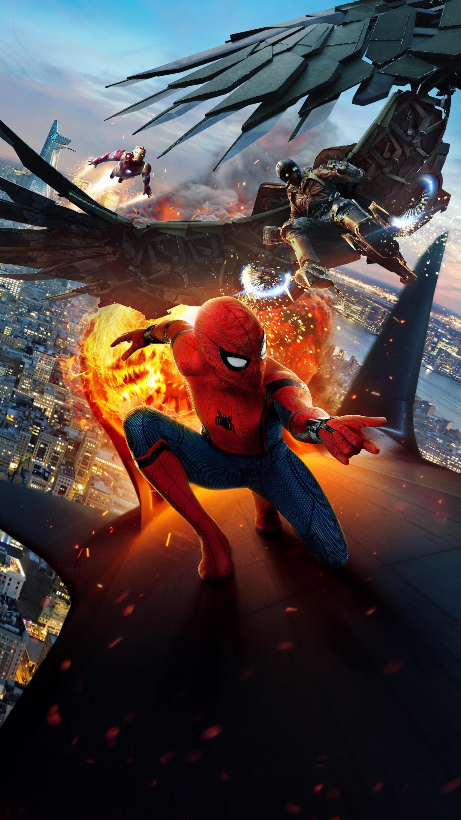 Spider Man Homecoming 2017 Phone Wallpaper Homem Aranha 1536x2732