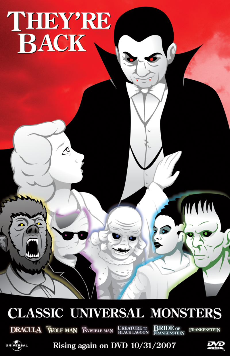Classic Universal Monsters by DanShive 800x1237