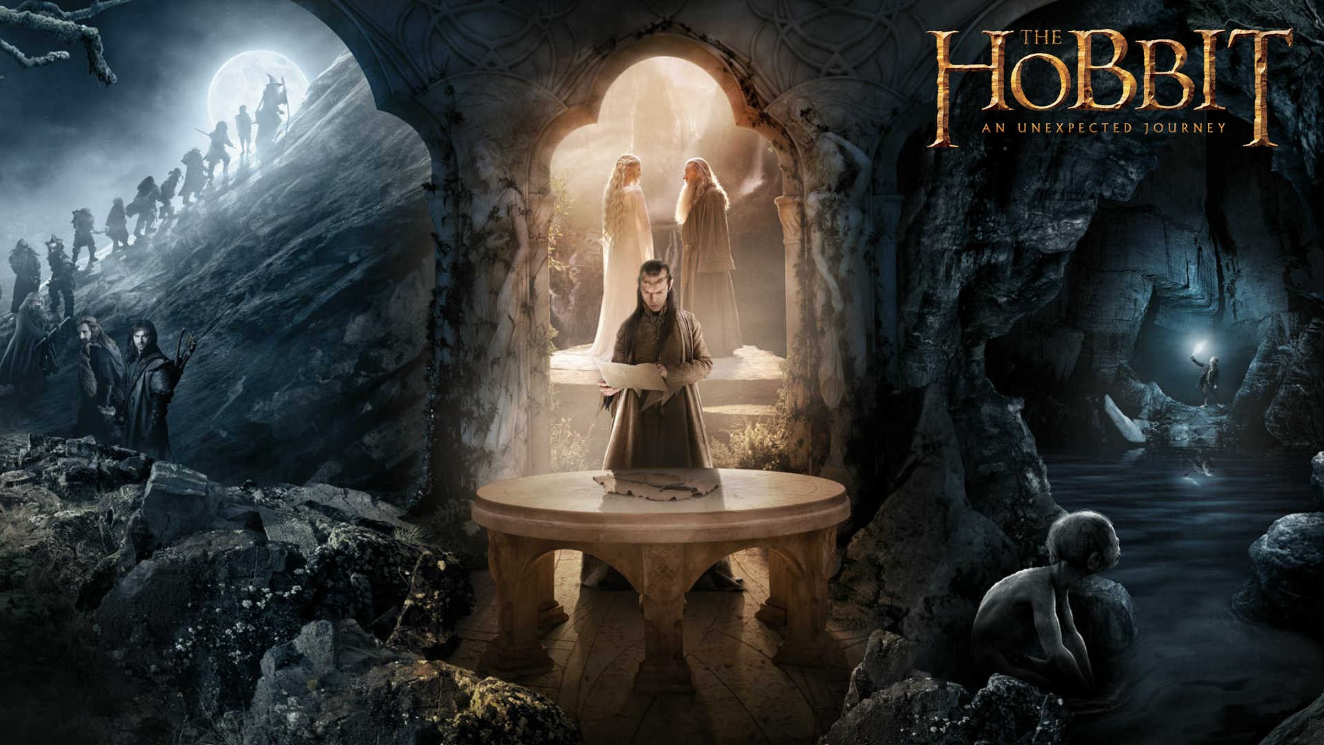 The Hobbit An Unexpected Journey Movies Gandalf Galadriel 1920x1080