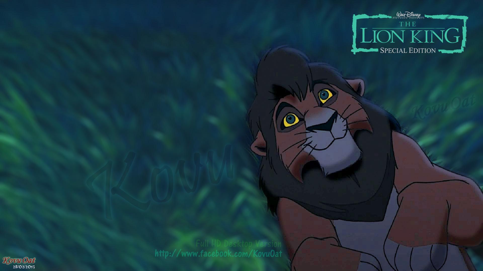 Lion King Kovu Desktop Wallpaper Background Full HD   Kovu Oat 1920x1080