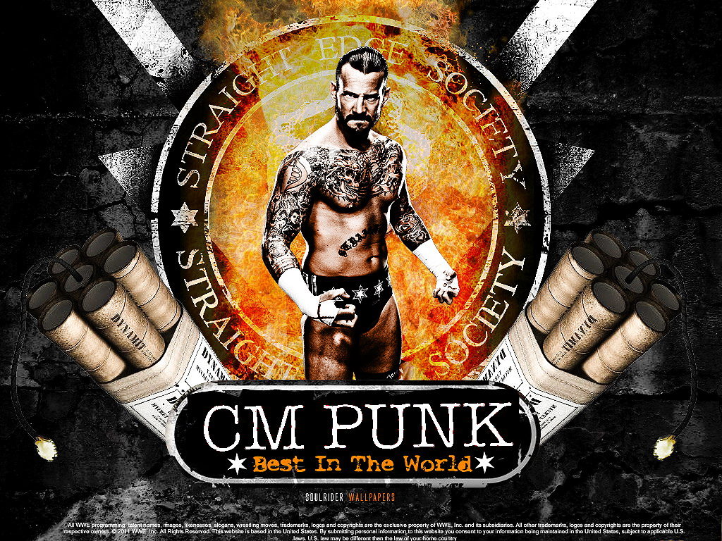 Punk Wallpapers   WWE Wallpaper 31689051 1024x768
