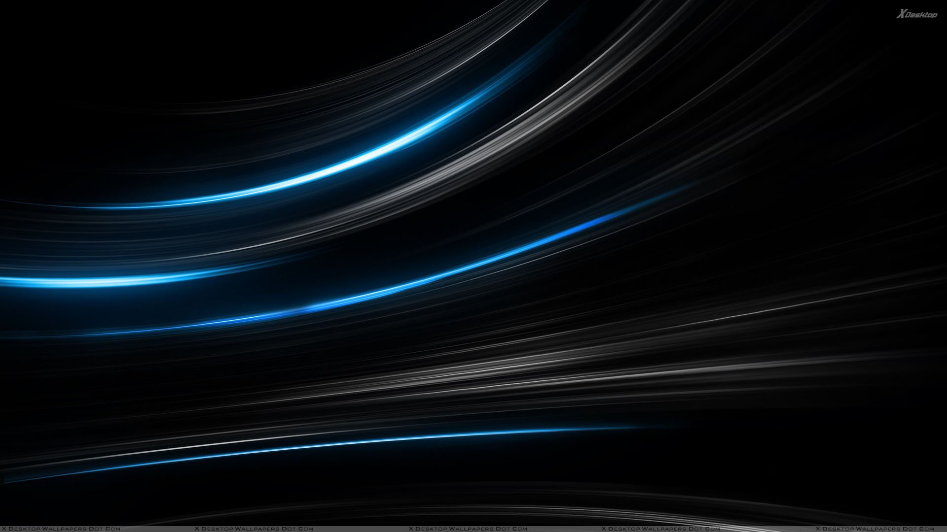 Blue And Black Shade Background Wallpaper 1920x1080