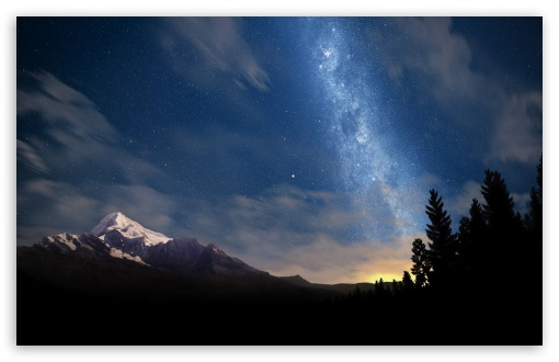 Starry Night Sky HD desktop wallpaper High Definition Fullscreen 510x330