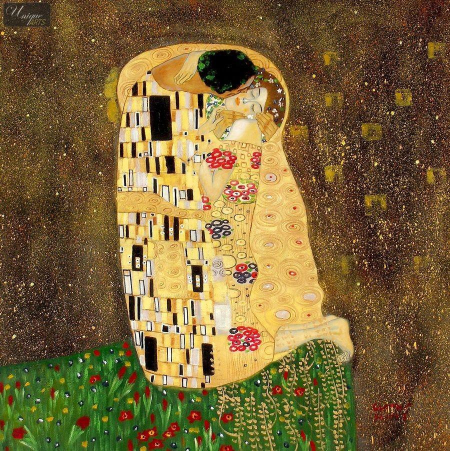 Klimt The Kiss Wallpaper Klimt Wallpaper - Wall...