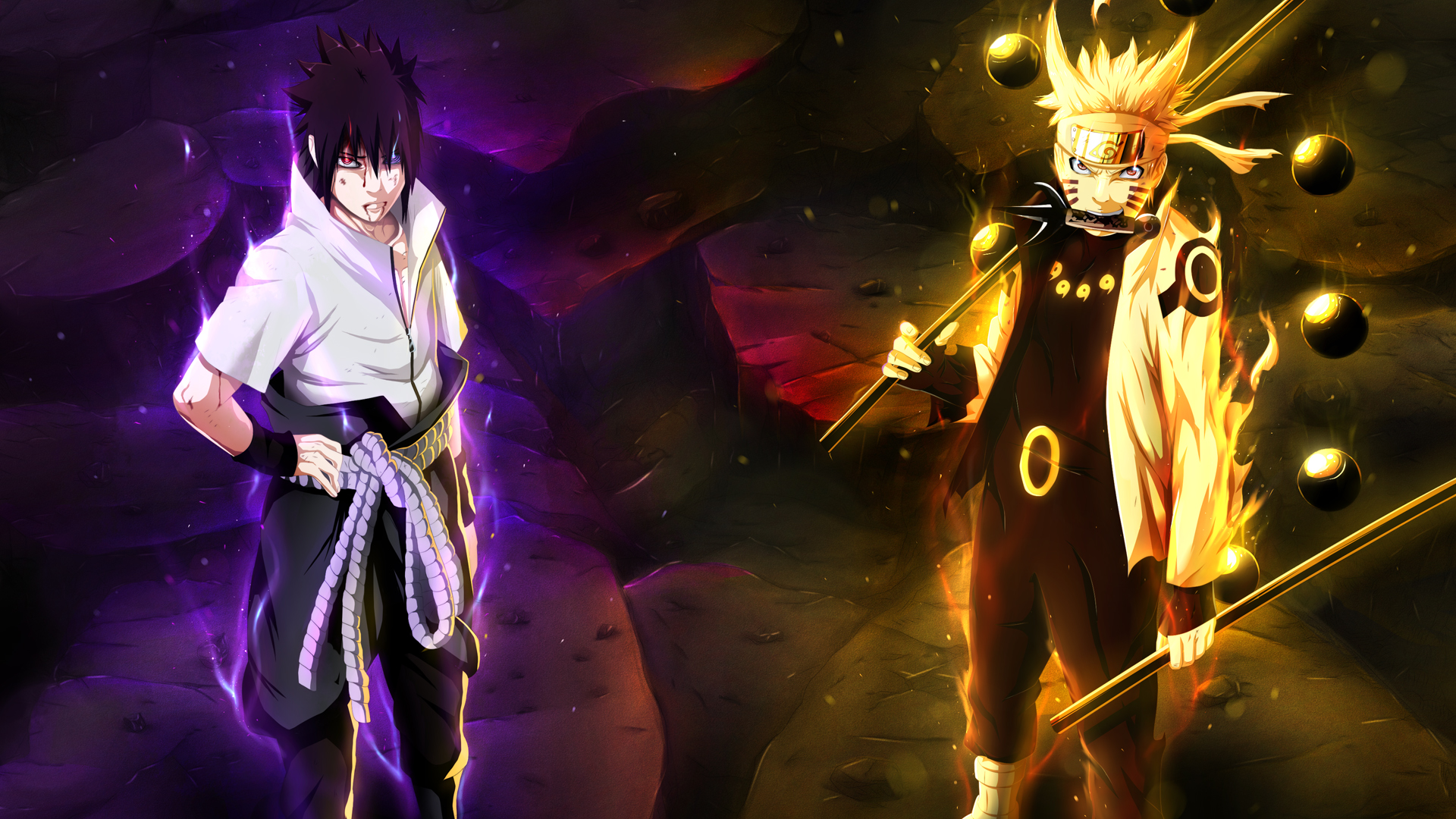 Naruto Sage Sasuke Rinnegan Eye Wallpaper HD 1920x1080