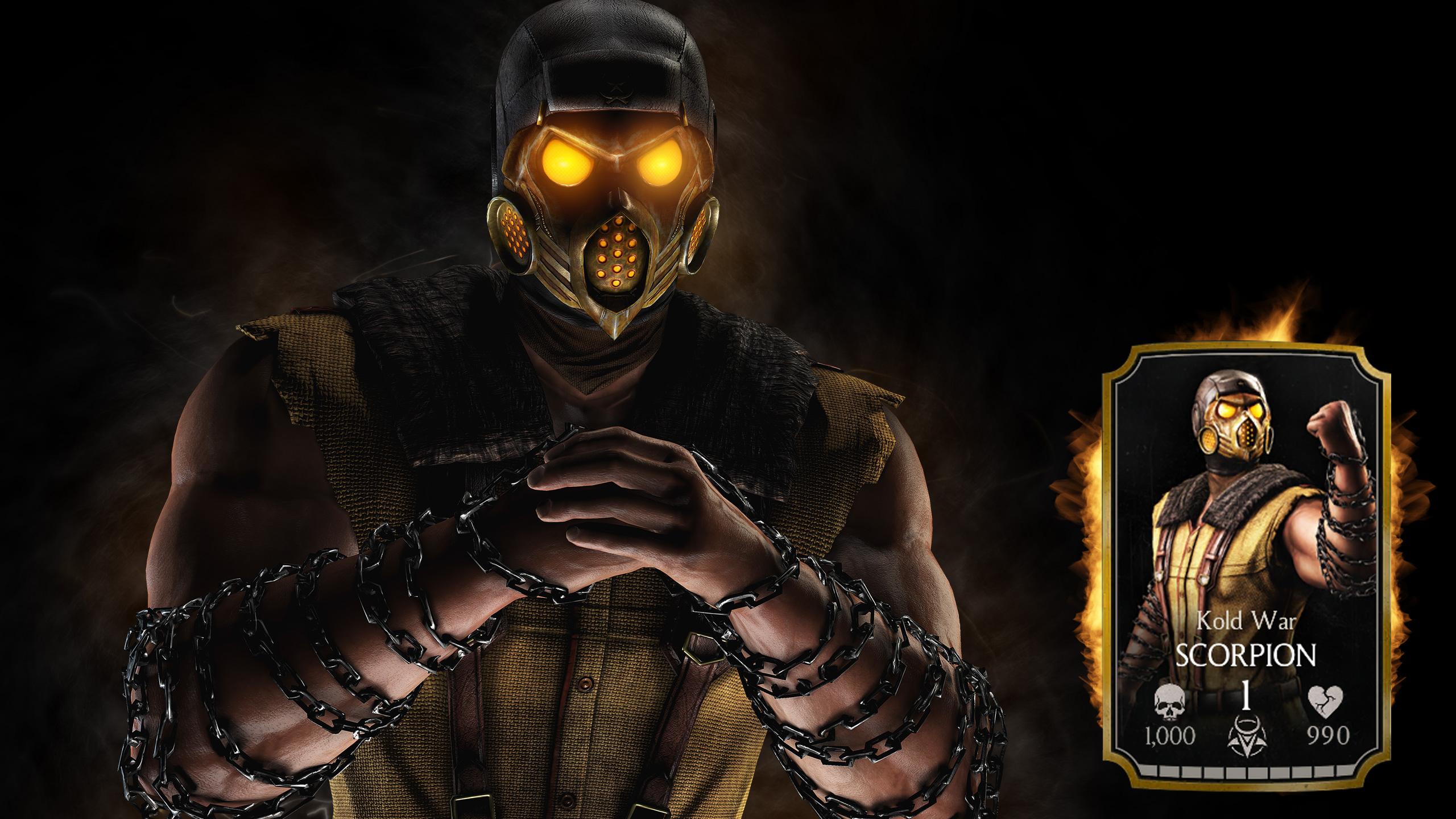 Scorpion Mortal Kombat X Game Wallpapers HD Wallpapers 2560x1440