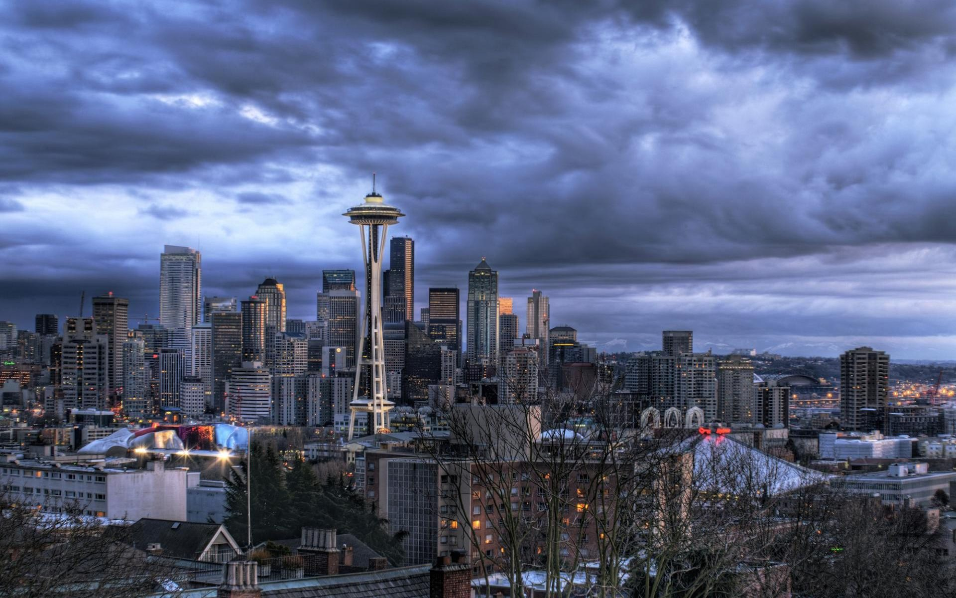 Seattle Streets Rain   wallpaper 1920x1200