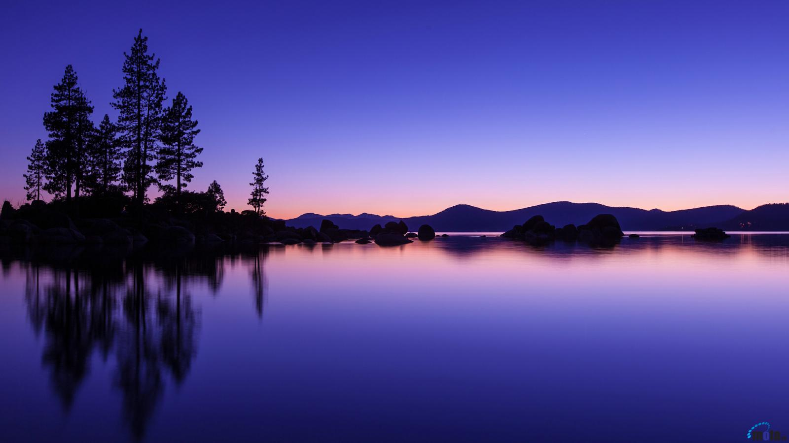 Download Wallpaper Romantic evening Lake Tahoe California 1600 x 1600x900