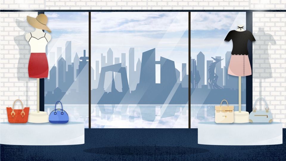 Clothing Store Window Cartoon Background Clothing Store Clothes 960x540