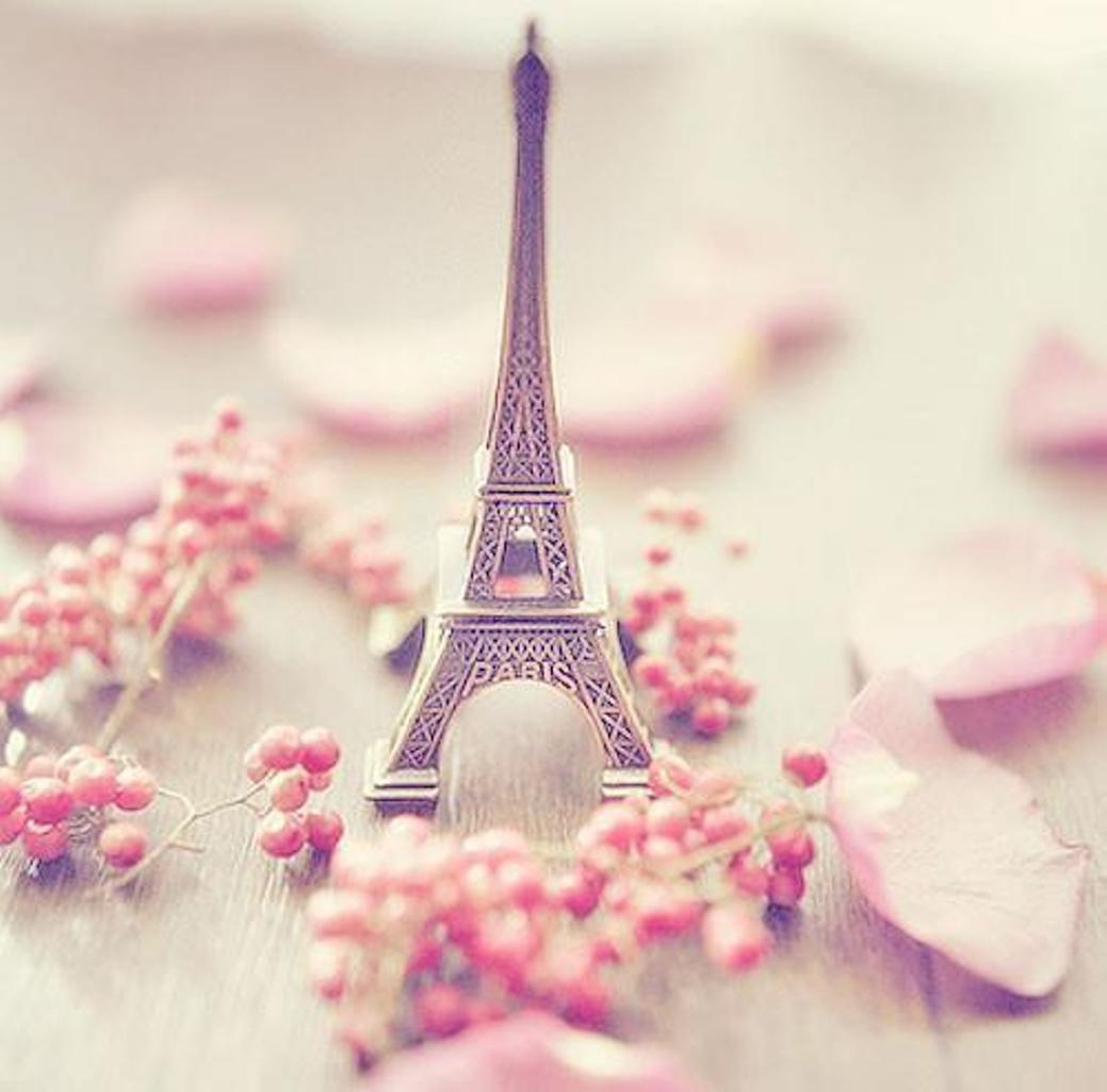 Paris In Pink Wallpaper