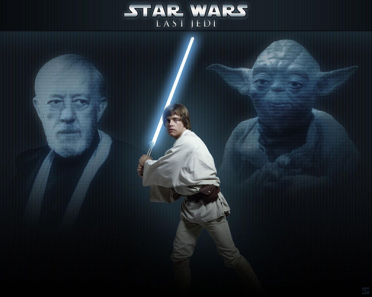 Yoda Obi Wan Kenobi Luke Skywalker 1280x1024