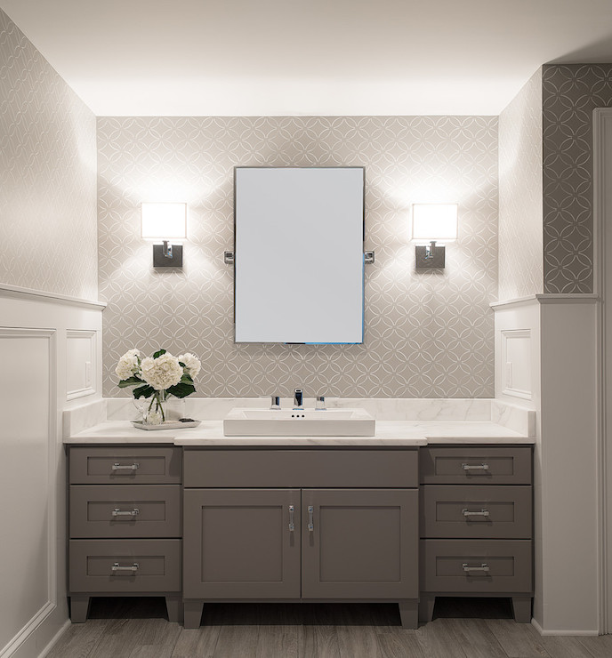 White and Grey Bathroom   Transitional   bathroom   Cory Connor Design 688x740