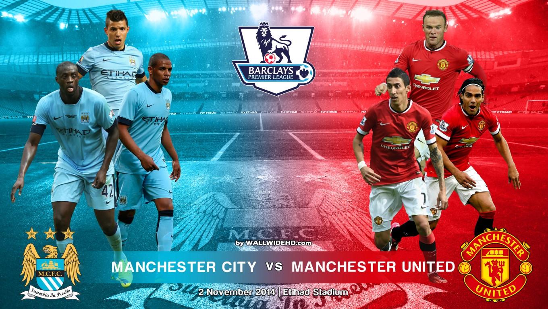 Download Manchester City Vs Manchester United BPL 2015 Wallpaper 1360x768