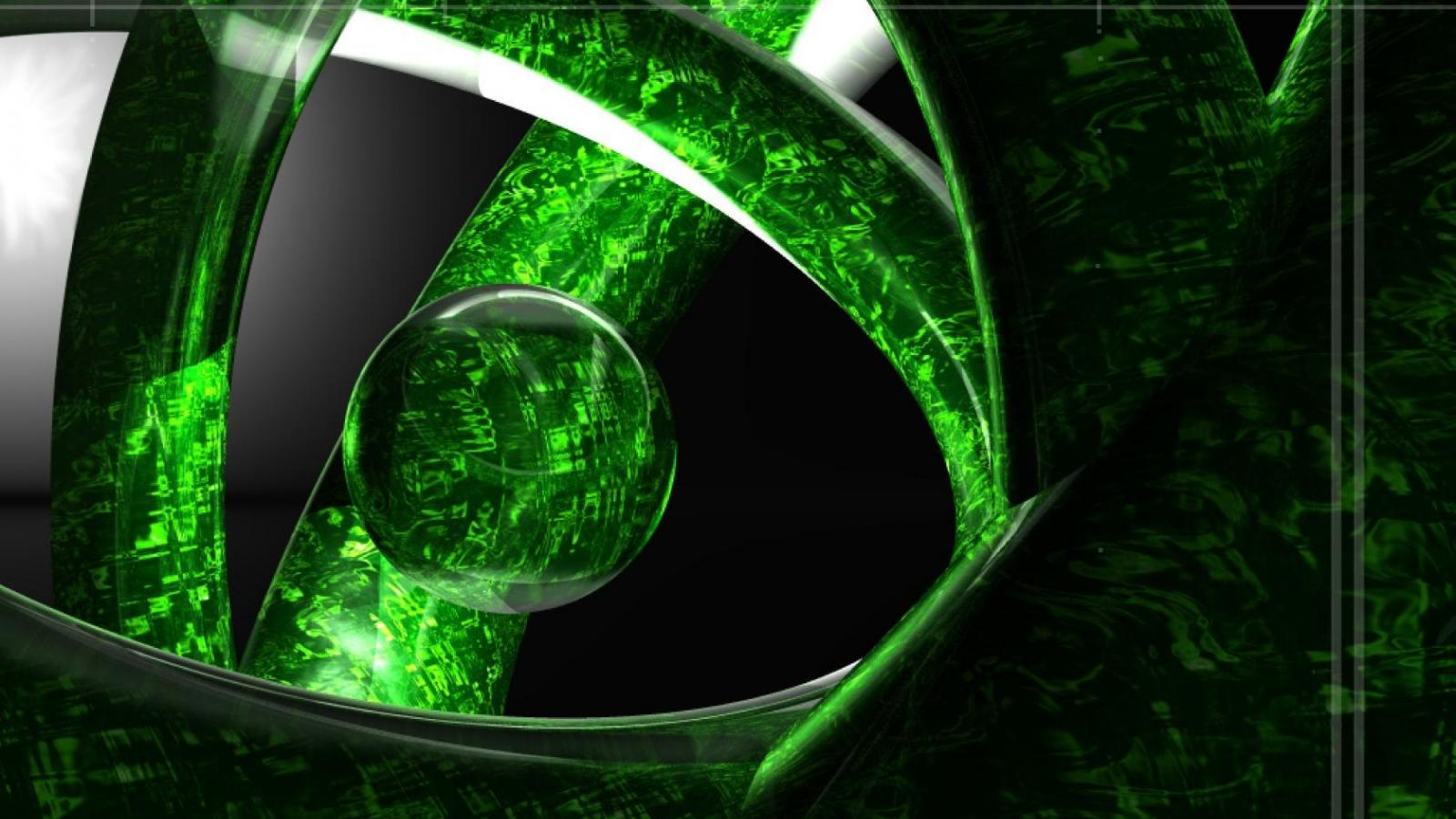 3d Abstract Green Wallpaper 14588 Wallpaper High 1600x900
