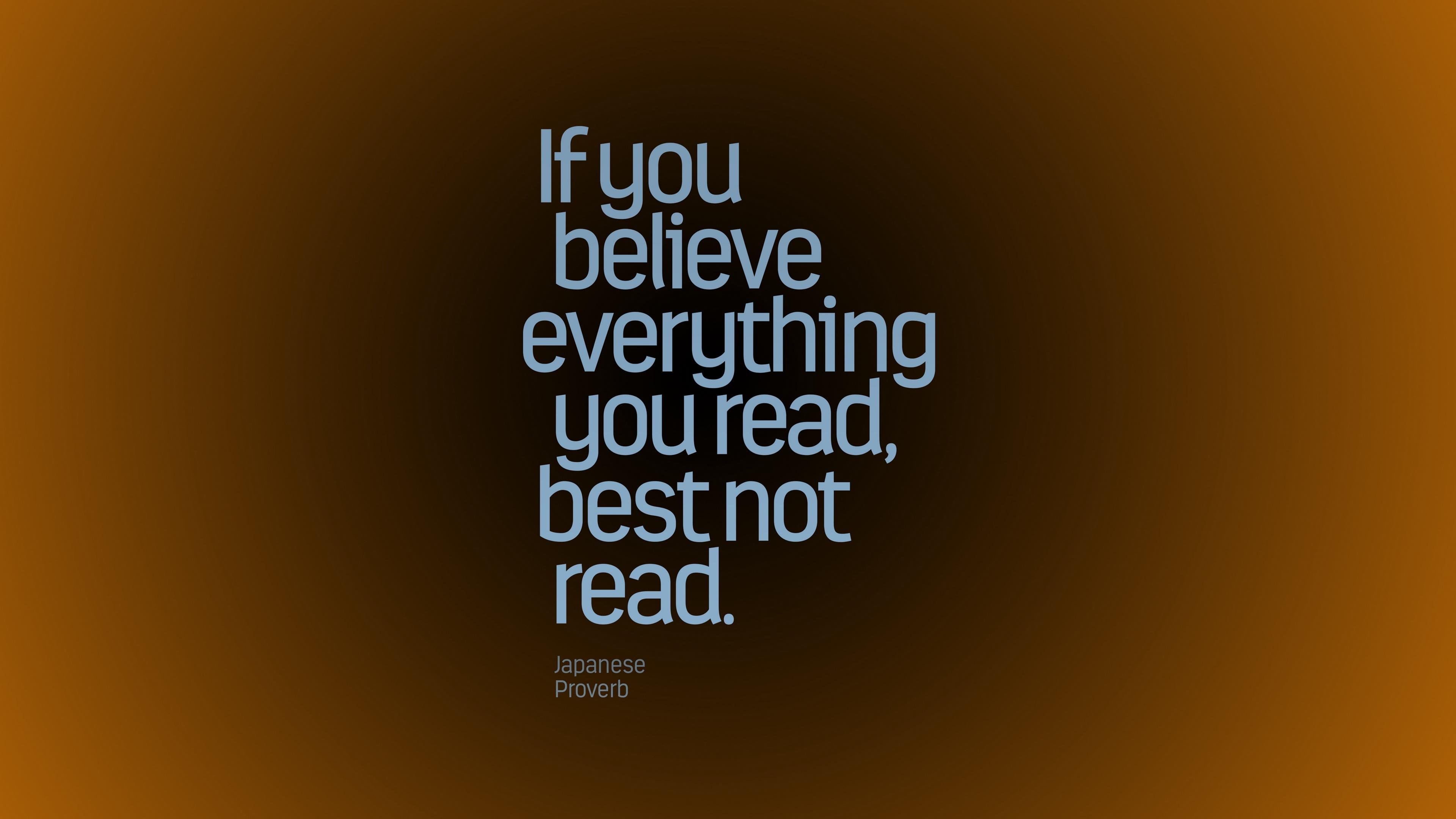 Download wallpaper 3840x2160 inscription proverb advice wisdom 3840x2160