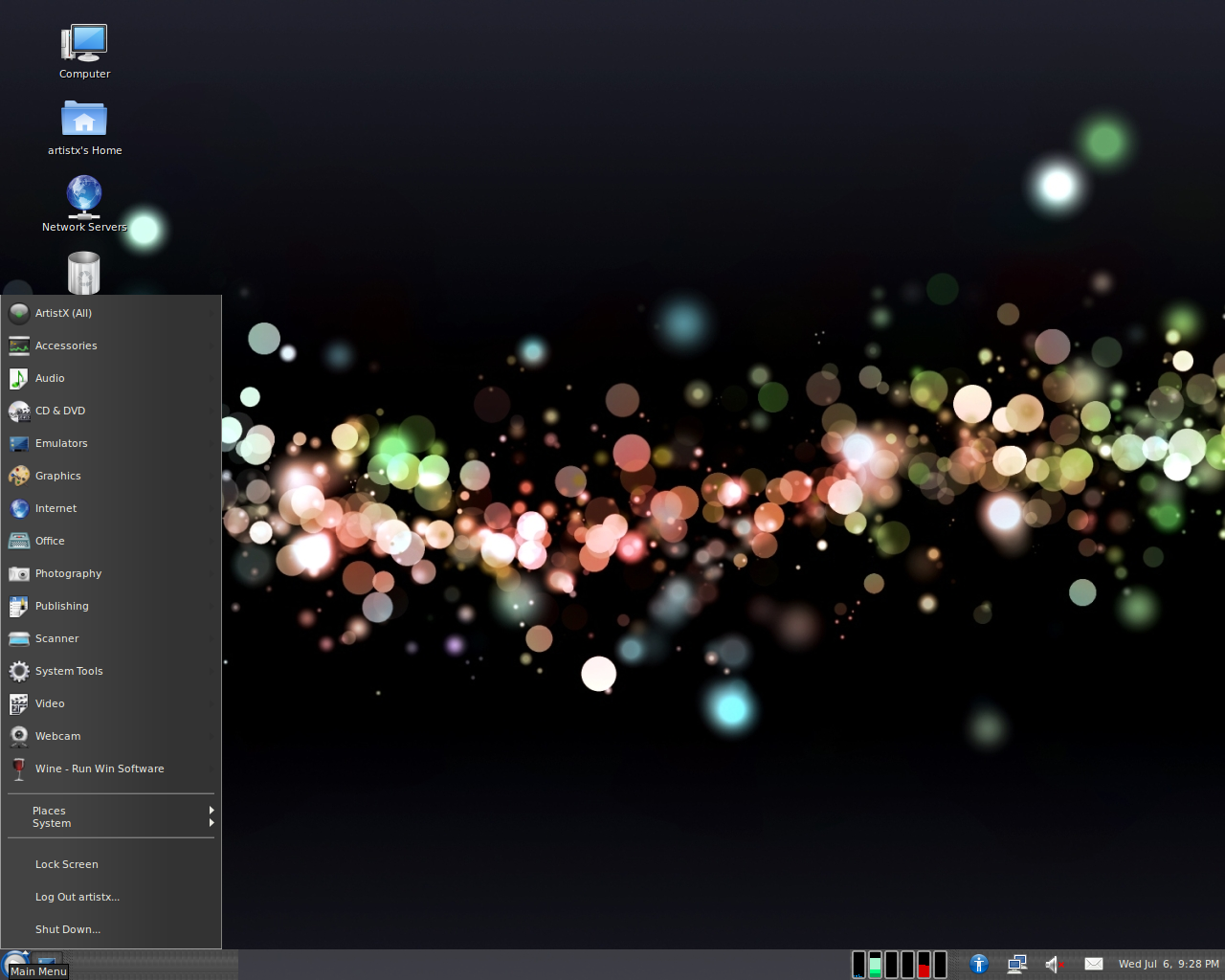 ArtistX is a Ubuntu based bootable DVD containing many 1280x1024