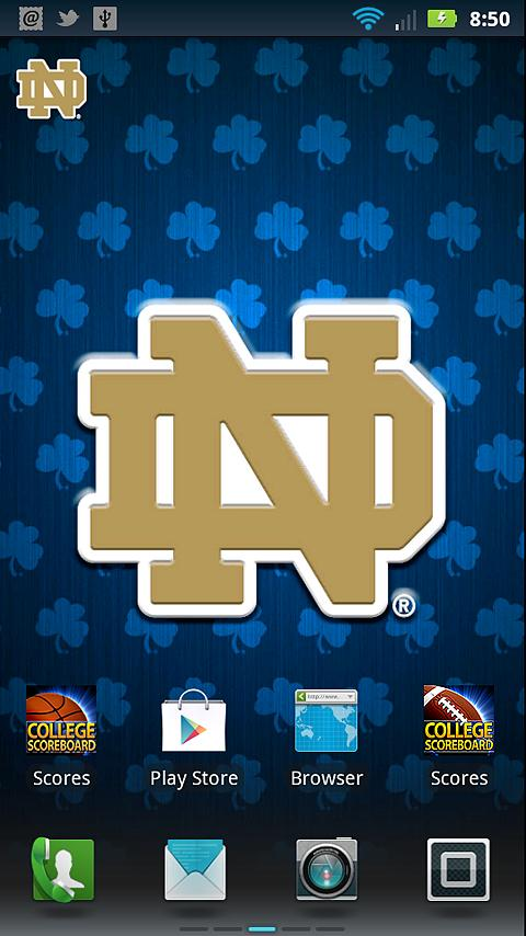 Related Pictures notre dame fighting irish ipad wallpaper collection 480x854