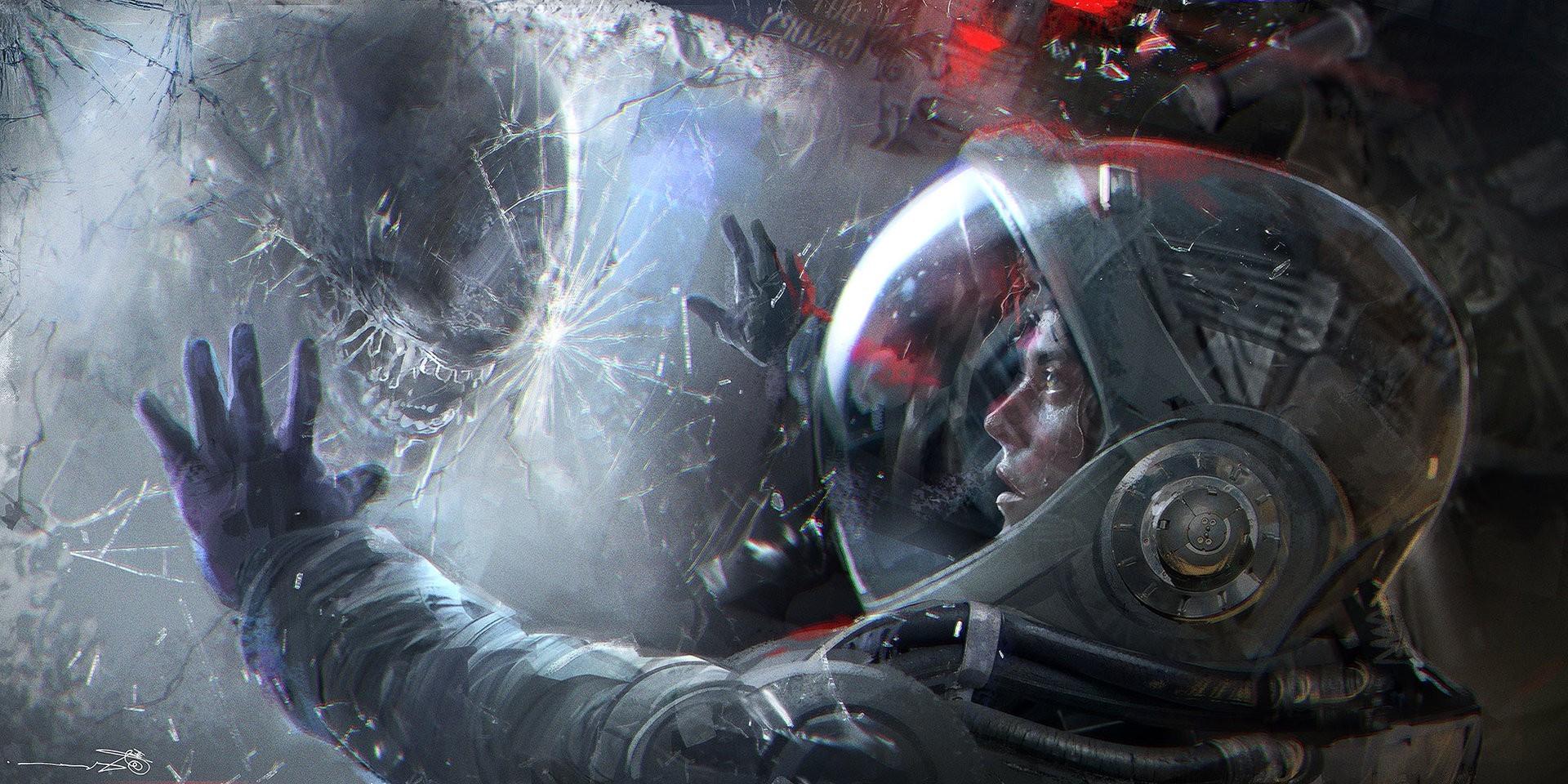 futuristic Xenomorph Aliens Artwork Science Fiction 1920x960