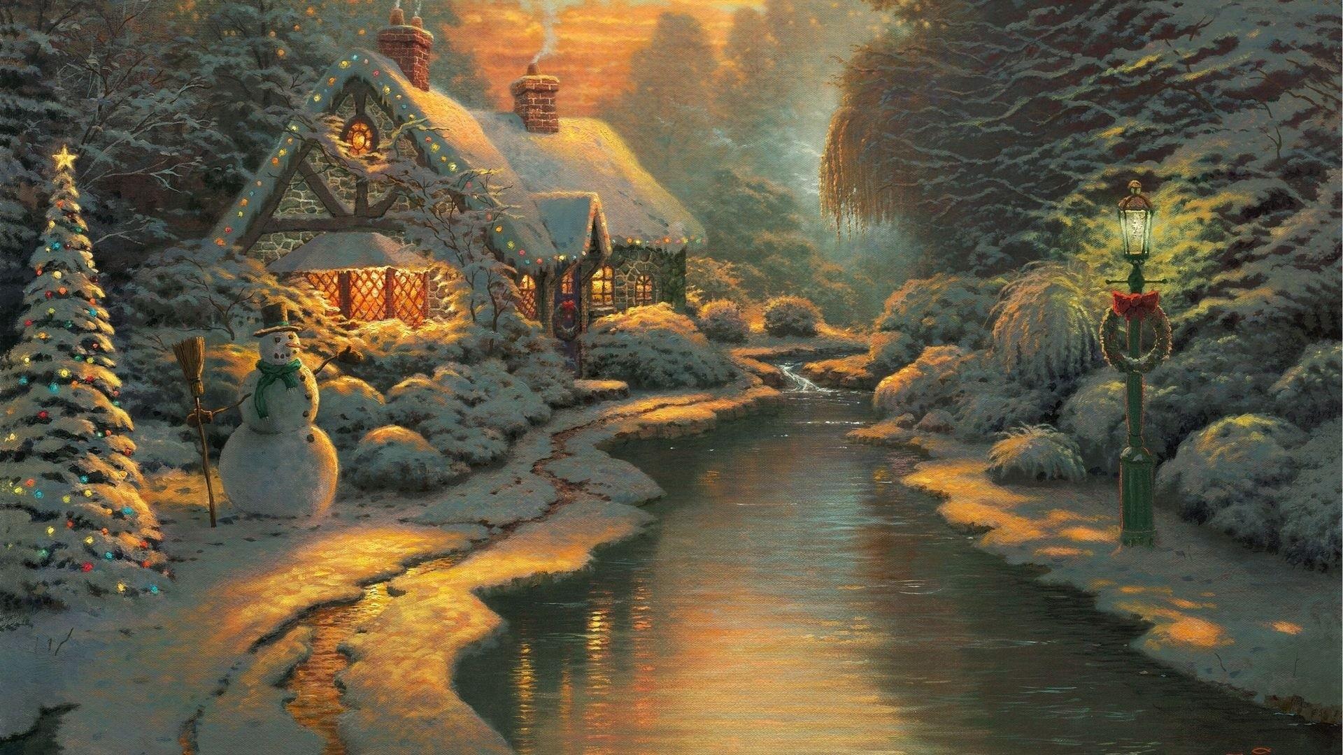 Thomas Kinkade Desktop Wallpaper Christmas 61 images 1920x1080