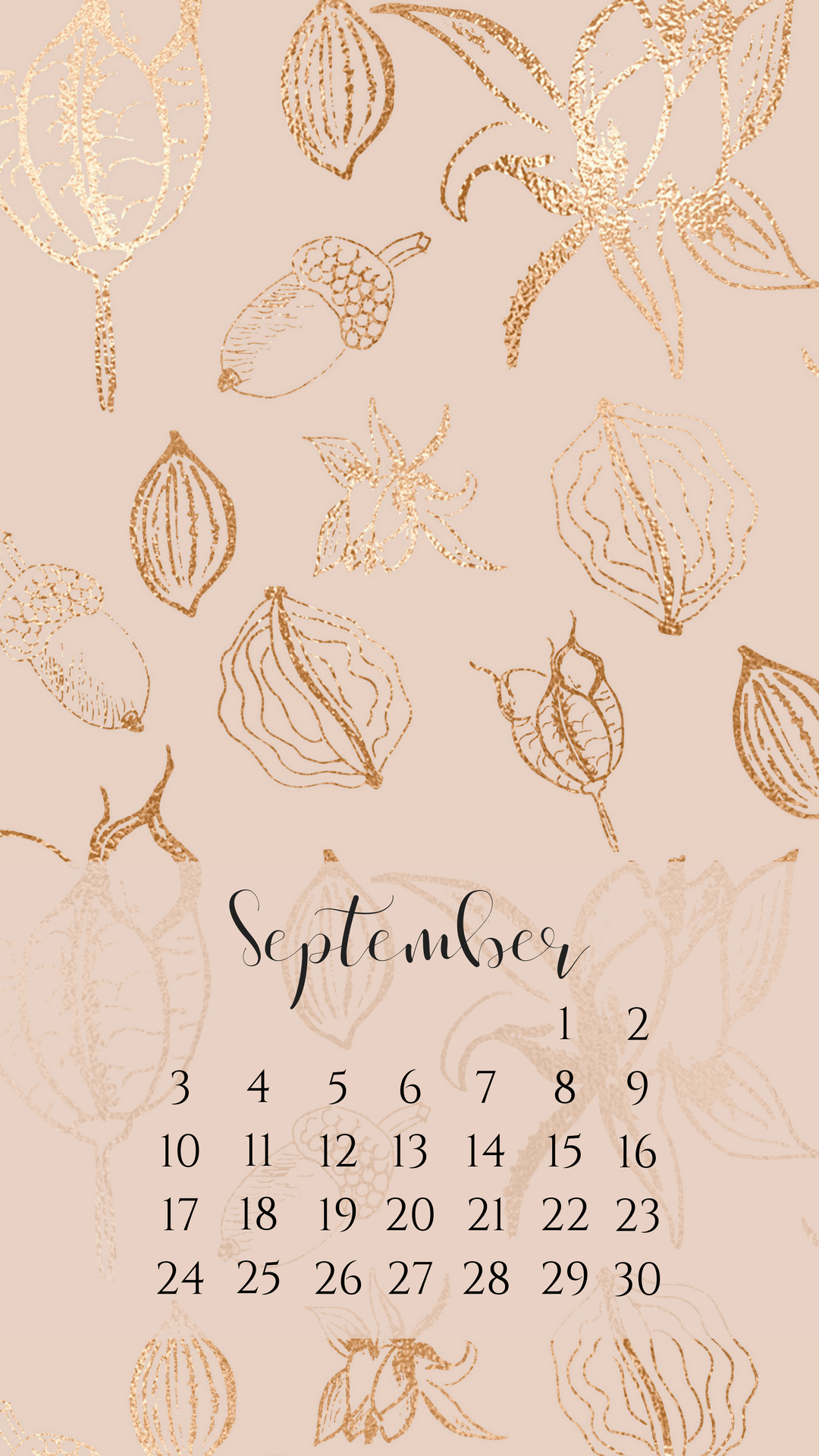 Click To Download September Foil Calendar   Wallpaper 453665 1080x1920