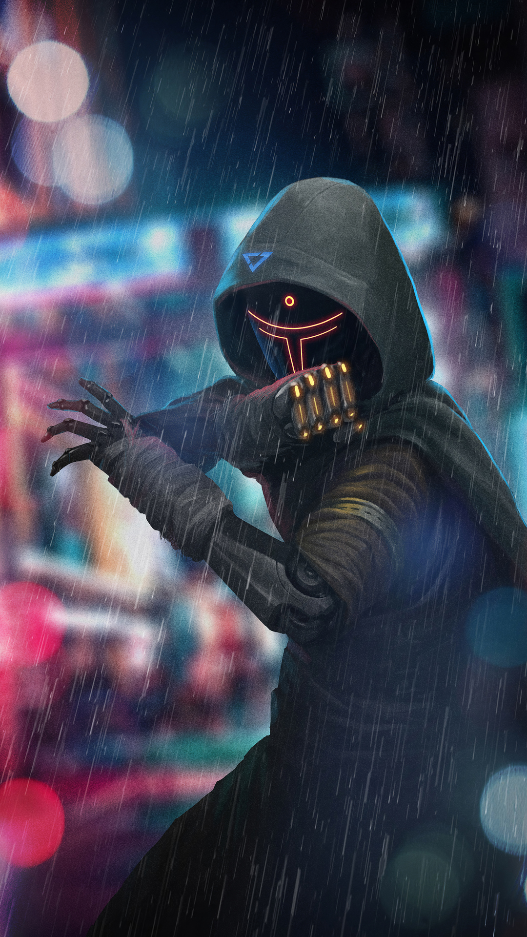 Cyberpunk Ninja HD Wallpaper 1080x1920