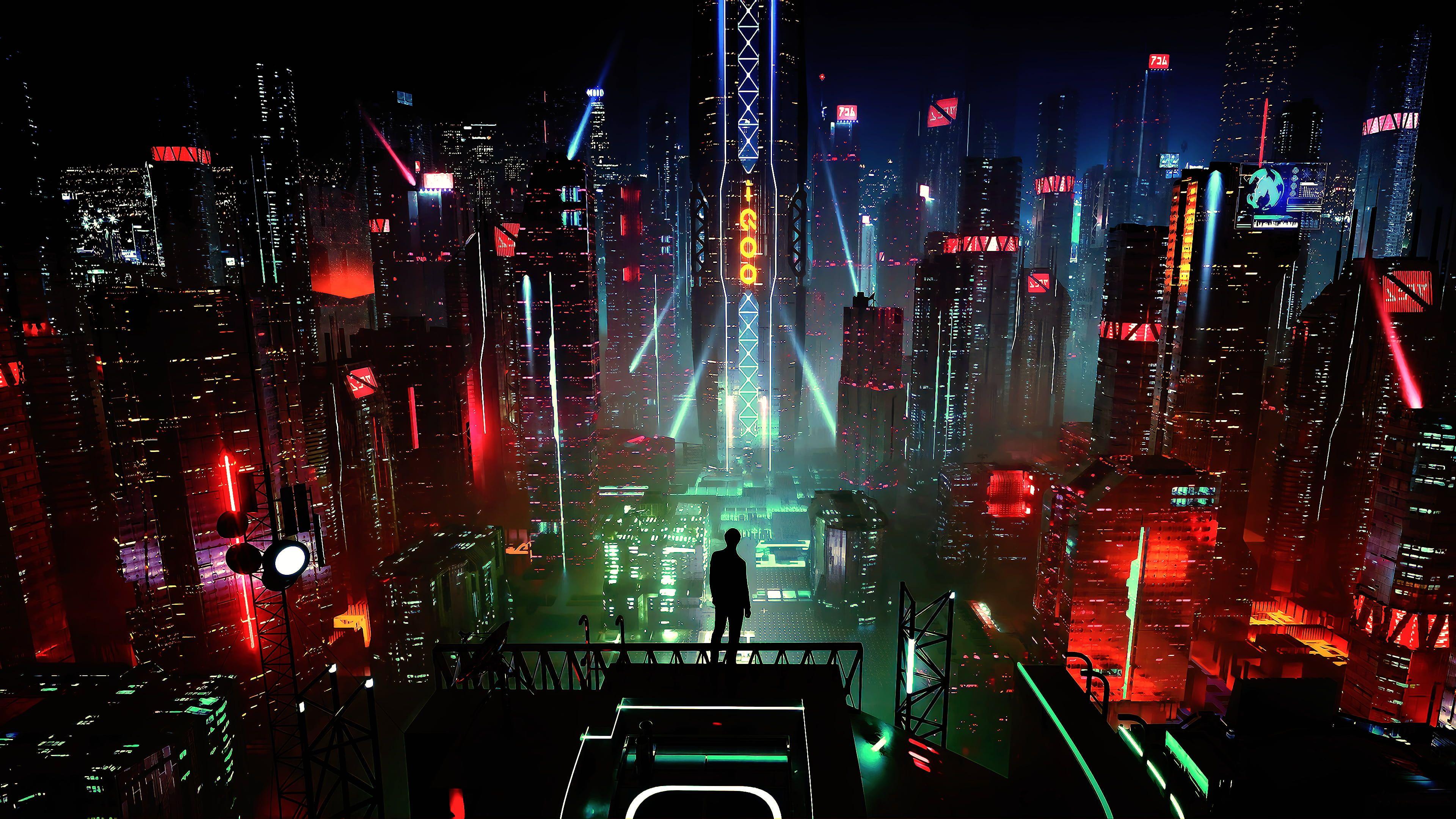 cyber science fiction digital art concept art cyberpunk artwork 3840x2160