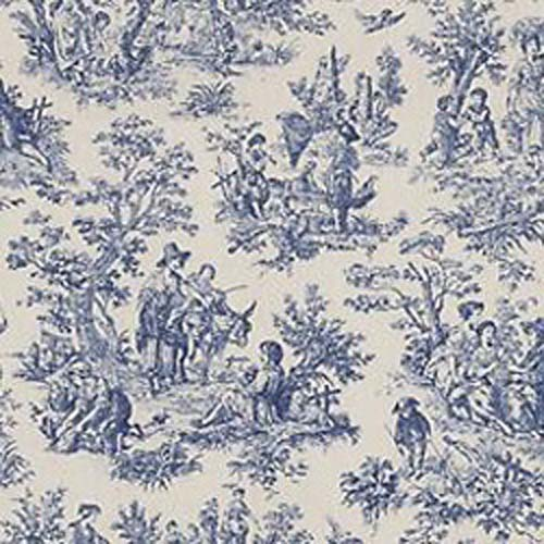 Free download Waverly Blue Toile Fabric HD Wallpaper ...