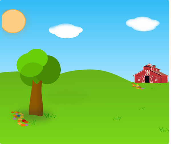 Farm Background Vector Download 600x504