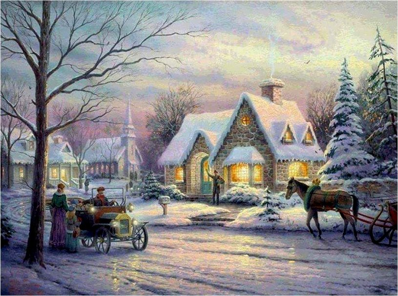 Christmas village wallpaper   ForWallpapercom 815x606