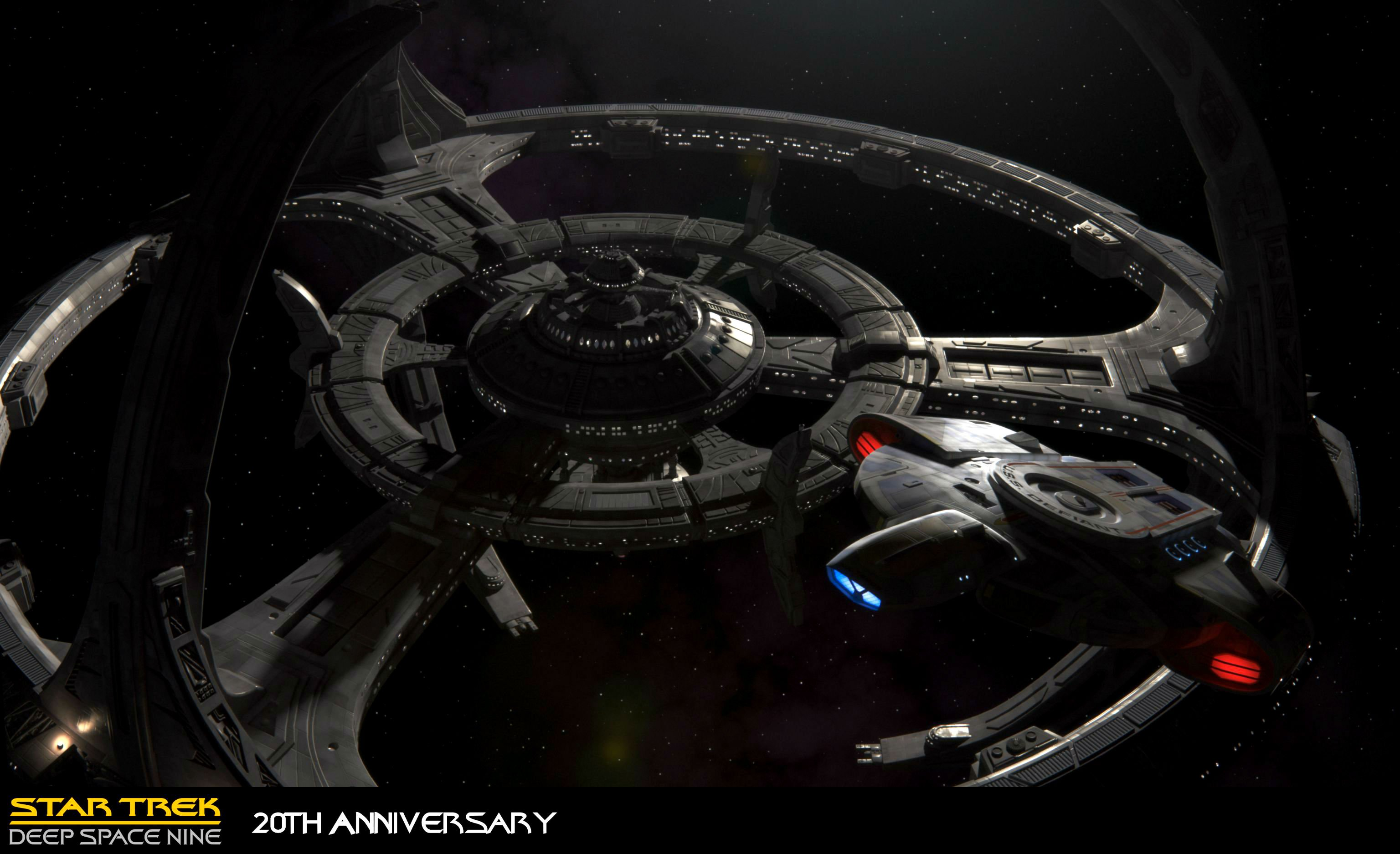 DEEP SPACE NINE Star Trek futuristic television sci fi spaceship 2 3072x1875