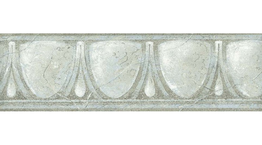Home Grey White Glass Vintage Wallpaper Border 900x500