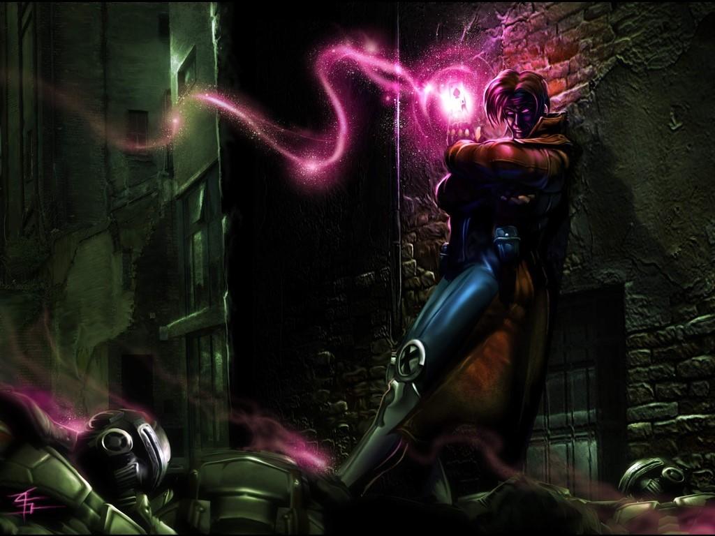 24] Gambit Marvel Background on WallpaperSafari 1024x768