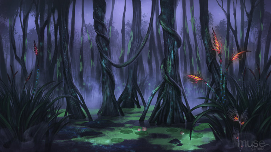 Creavures Background   Swamp by musegames 900x506