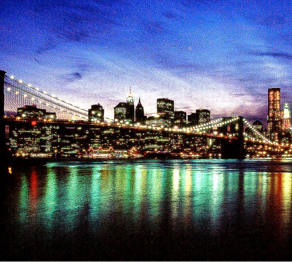 New York City At Night Background Wallpaper Wallpaper Background 972x870